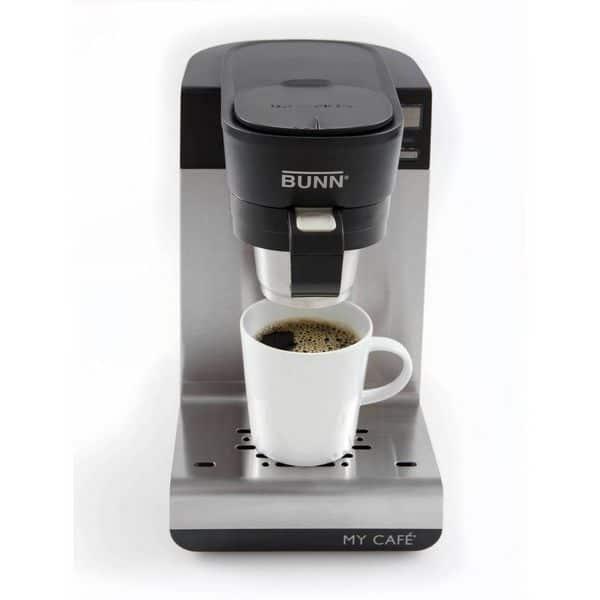 Bunn MCU with full cup of coffee