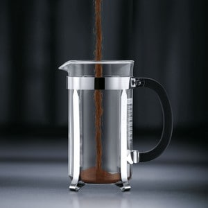 Step 1 - Coffee in the french press