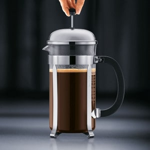 Bodum Chambord Coffee Press Step 3 Push Plunger