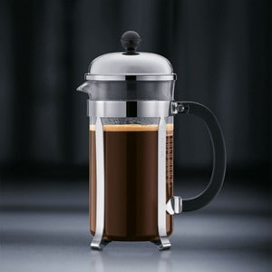 Step 4 - Bodum Chambord French Press with coffee