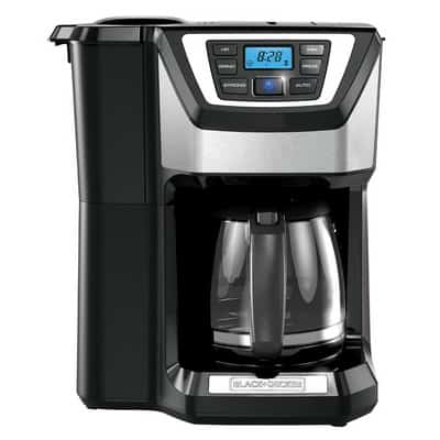 Black And Decker CM5000B 12Cup Mill And Brew Coffee Maker Front View