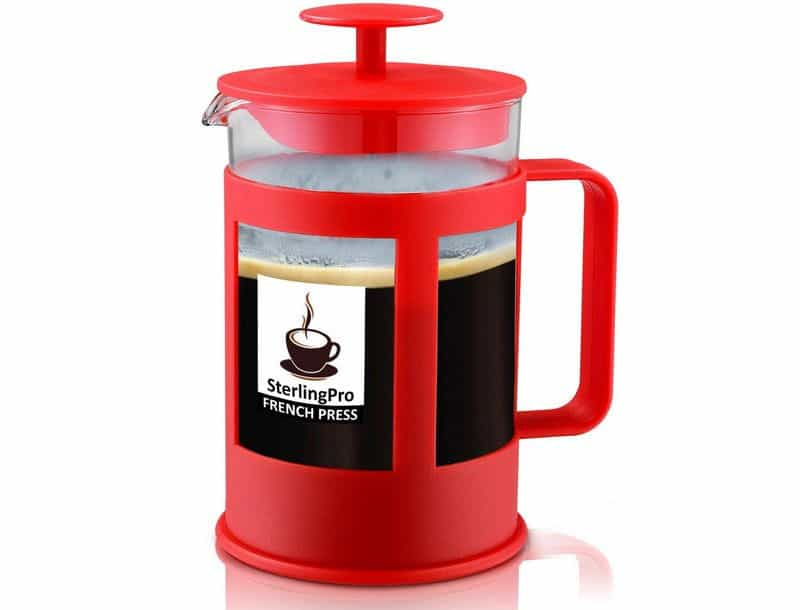 SterlingPro 6-Cup French Press Strawberry Red