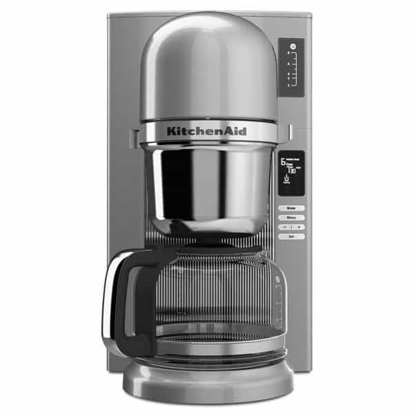 KitchenAid Automatic Pour Over Coffee Maker silver front