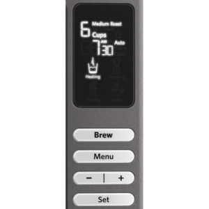 KitchenAid coffee maker kcm0802 control panel display
