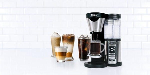 Ninja CF080Z Coffee Bar Brewer with iced coffee drink