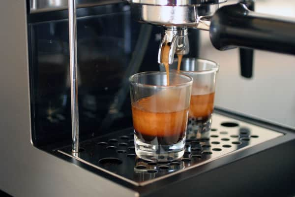 Gaggia classic shot glasses with thick crema
