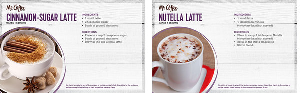 Free Cafe Latte Receipt Booklet