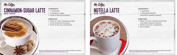 Free Cafe Latte Receipt Booklet