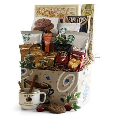 on-the-go coffee gift basket