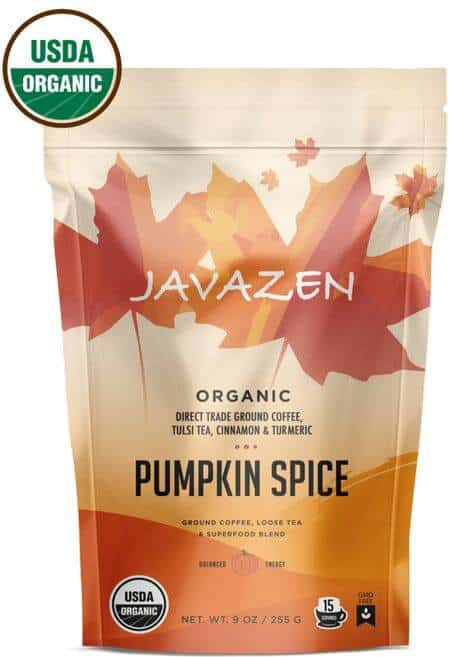 javazen pumpkin spice coffee tea blend