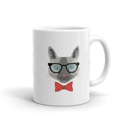 hipsta kitty mug