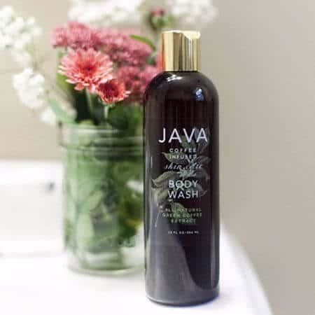 Java coffee infused body wash