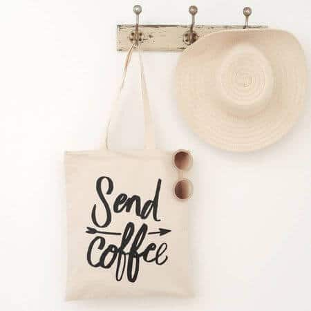 send coffee tote bag