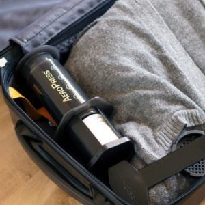 aeropress in suitcase