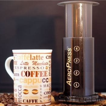 cup of coffee with aeropress