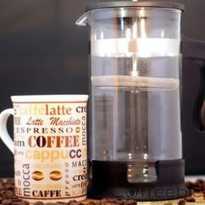 cup of coffee with french press