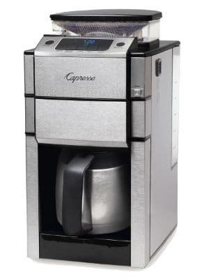 capresso CoffeeTEAM Pro Plus is one of the best grind and brew coffee makers