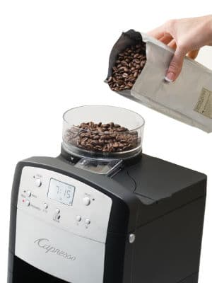 capresso coffeeTEAM TS filling bean hopper