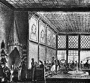 Turkish coffee house in seventeenth century