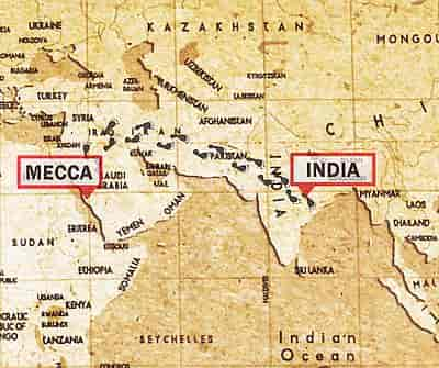 Baba Budan Route From Mecca To India