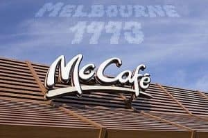 first mccafe in melbourne 2001