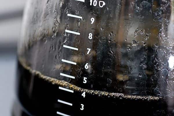 black coffee in drip coffee carafe