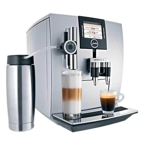 a jura impressa j93 espresso machine on a flat surface
