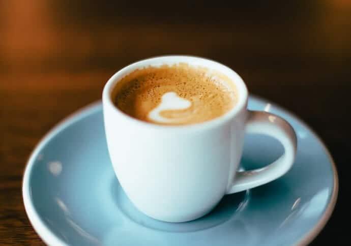 A cup of macchiato