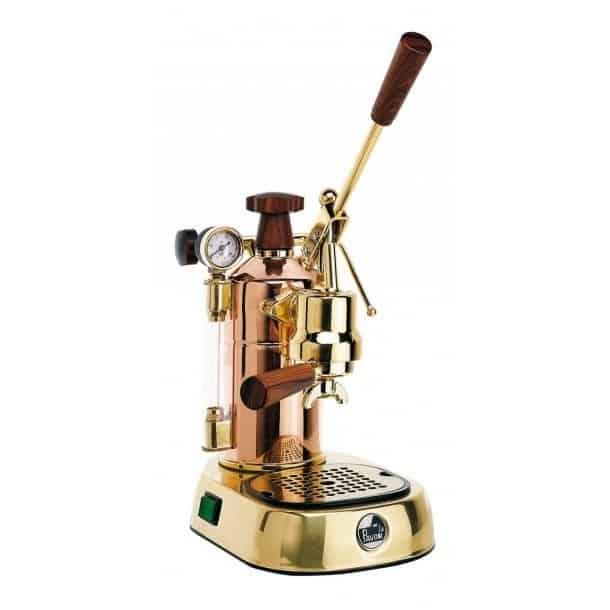 2. La Pavoni Professional Copper & Brass - Best Springless Lever Espresso Machine