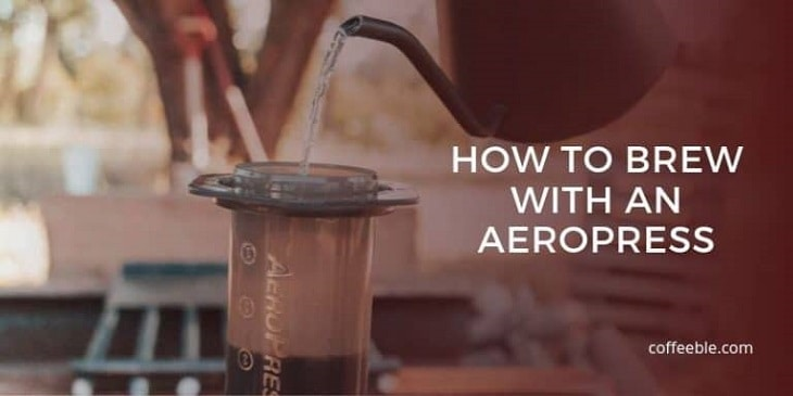 making coffee with an aeropress