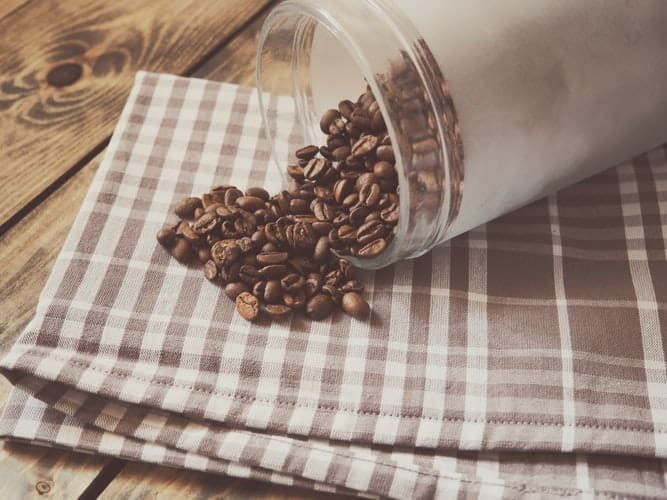 the best coffee storage canisters are airtight and opaque, unlike this clear canister.