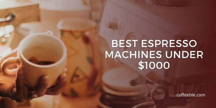 espresso in a cup and one of the best espresso makers under 1000