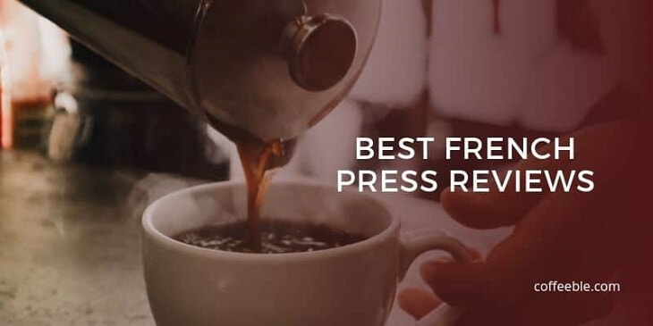 coffee poured from a French Press