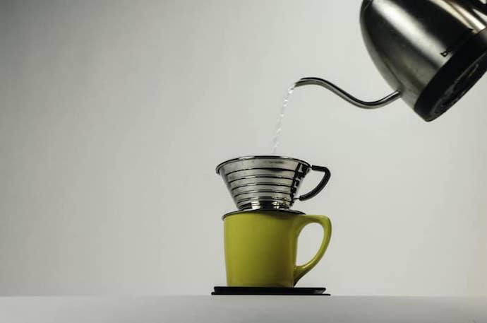 a bonavita kettle, one of the best gooseneck kettles for pour over, and a manual coffee dripper