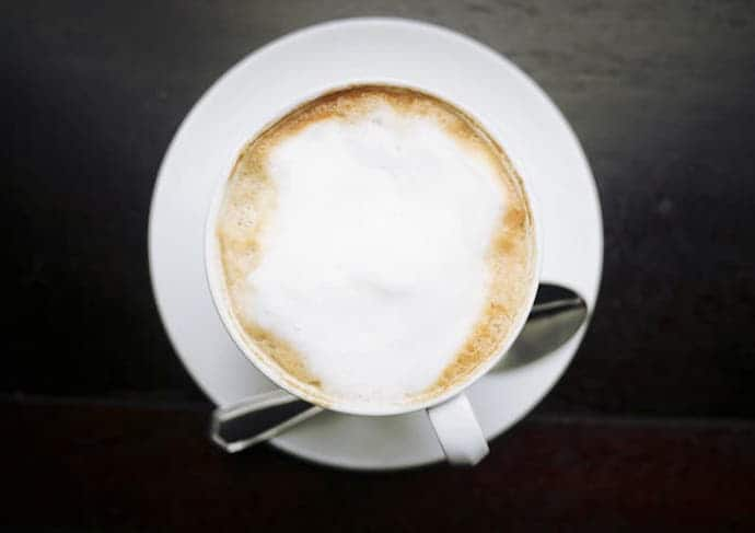 a cup of cappuccino that can be made for our Keurig K-cafe review