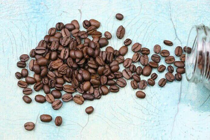 best organic coffee beans on a flat surface