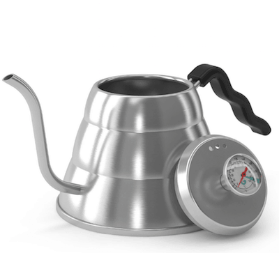 the coffee gator kettle with thermometer
