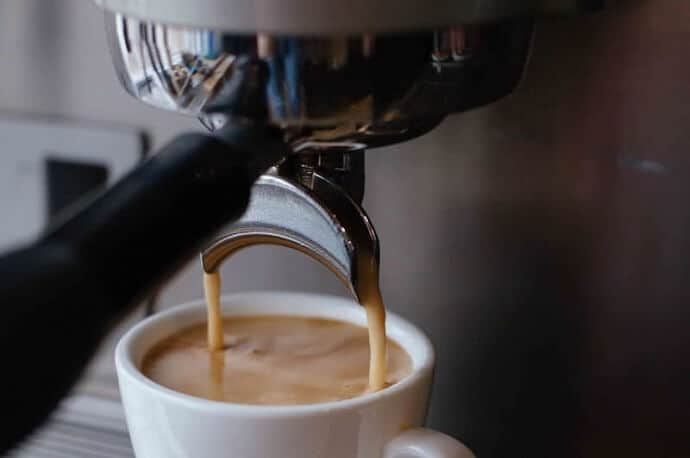 a close up of an espresso machine under 1000