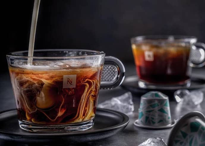 coffee made with the nespresso pixie, one of the best single serve coffee makers in this list