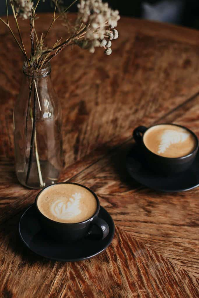 two cups of latte that meet the SCA Golden Cup Coffee Standards