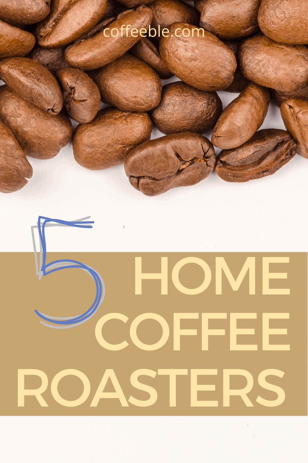 Roasted coffee beans on a poster