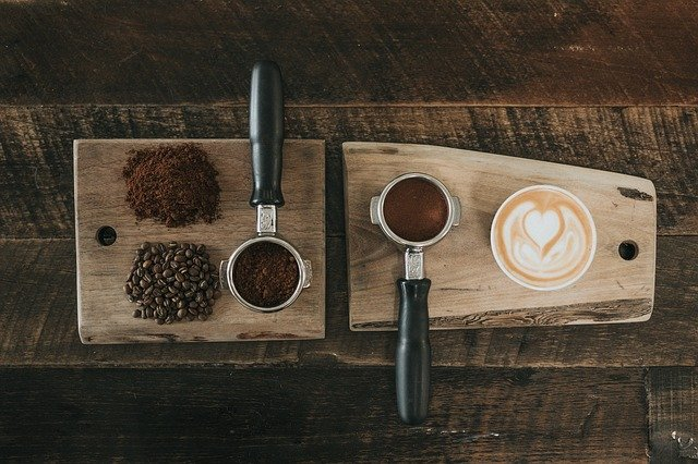 coffee grounds for espresso based coffee like lattes and cappuccinos
