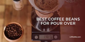 pour over coffee beans and a chemex